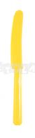 Žlté plastové nože 10 ks