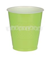 Zelené plastové poháre 10 ks
