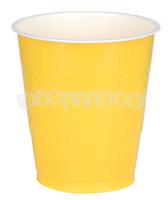 Žlté plastové poháre 10 ks