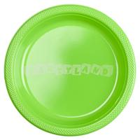 Zelené plastové taniere 10 ks