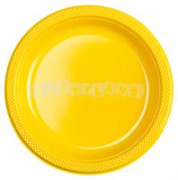Žlté plastové taniere 10 ks