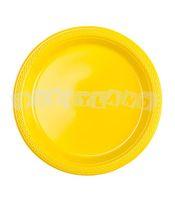 Žlté plastové tanieriky 10 ks