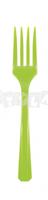 Zelené plastové vidličky 10 ks