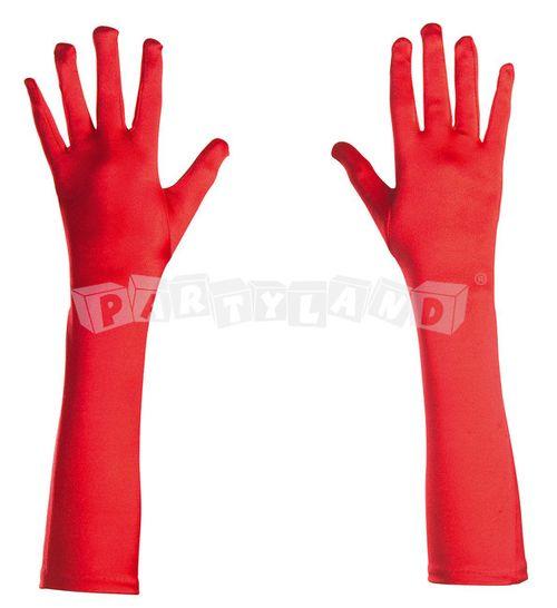 Rukavice červené elastické