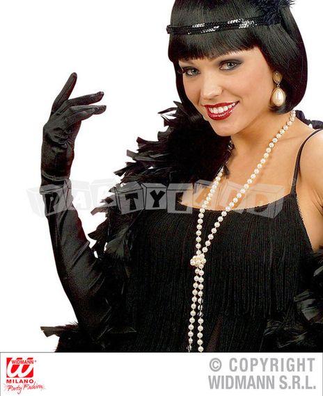Saténové rukavice čierne