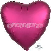 Srdce ružové 43 cm saténový fóliový balón