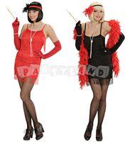 Swingové šaty - čierne / červené