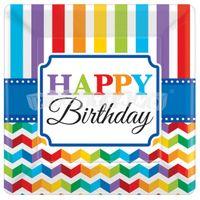 Tanieriky Happy Birthday 8 ks