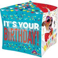 Všetko najlepšie kocka 38 cm fóliový balón