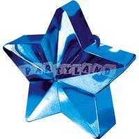 Závažie na balóny - modrá hviezda