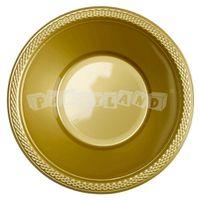 Zlatá plastová miska 10 ks, 355 ml